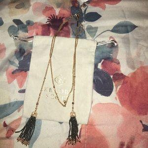 Kendra Scott Monique Rose Gold Tassel Necklace